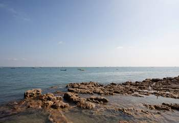Little ones love rock pooling here at Seaview Bay, it's a holiday must here on the Island!