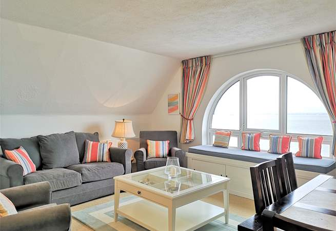 Admire stunning sea views right from your window seat.
