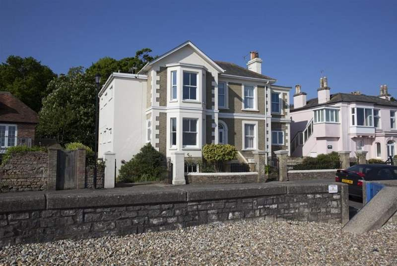 1 The Saltings is located within an impressive seafront building.