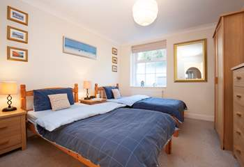 The twin room is also especially spacious, ideal for children or adults.