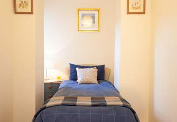 The cosy single room is perfect for a child or young person.