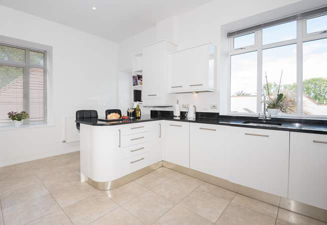 There's plenty of space in the kitchen, which leads out onto the main terrace.