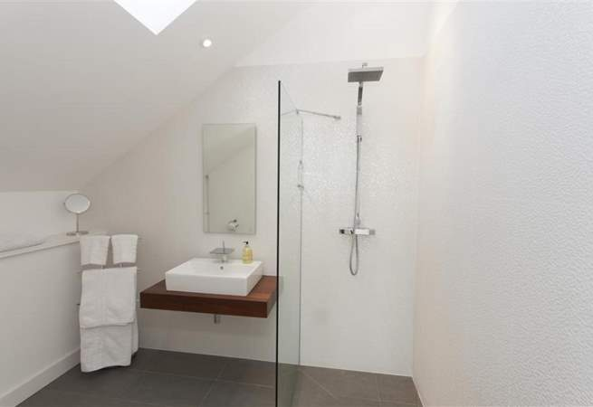 A shower-room.