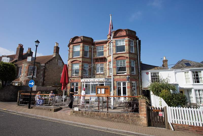 The Seaview Hotel with Bar and Restaurant located on Seaview High Street.