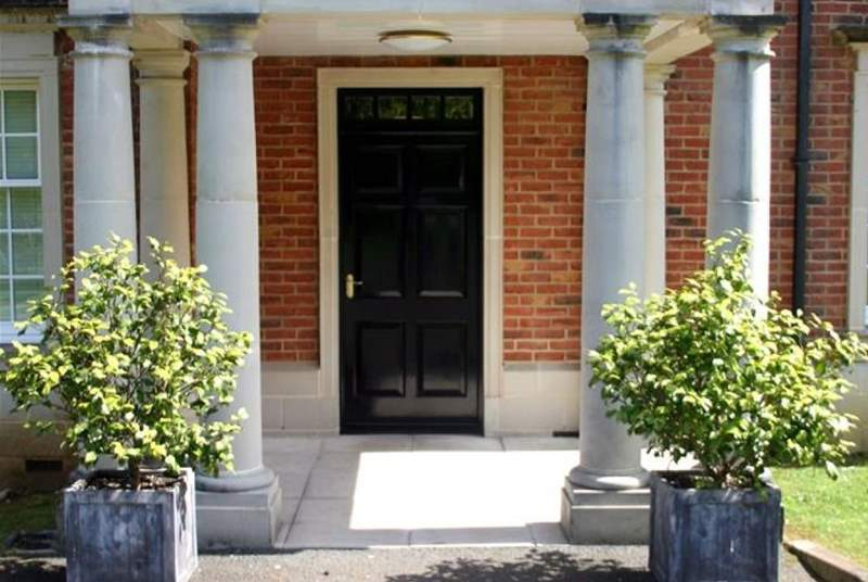 The shared entrance, leading to this delightful holiday apartment.