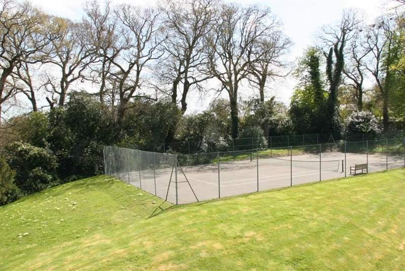 You have use of a communal tennis court during your stay.