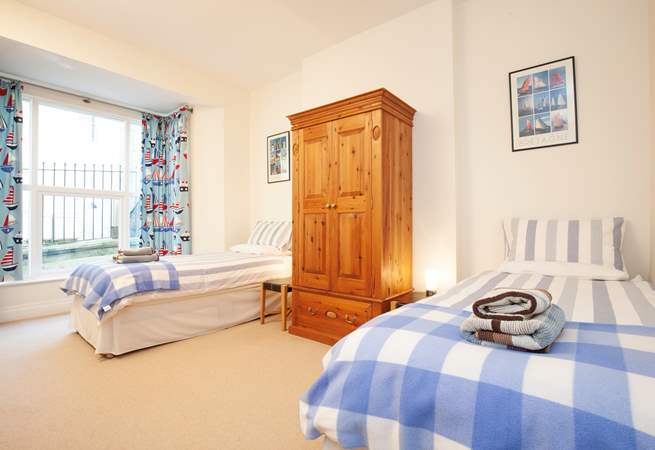 The spacious twin bedroom.
