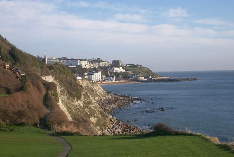 Ventnor offers many walks with breath-taking views.