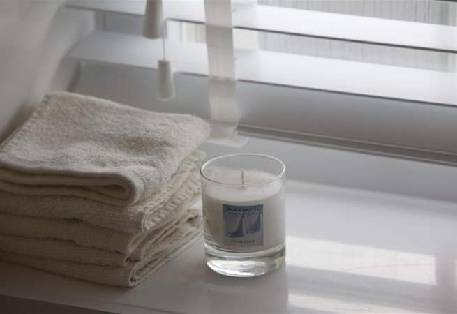 Perfect for soaking in the wide bath with a book or soft lighting.