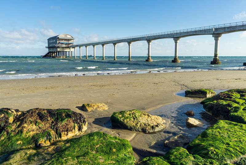Spend your afternoon on Bembridge beach with views of Bembridge lifeboat station.