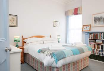 The master bedroom has a cosy double bed for that much needed good night's sleep.