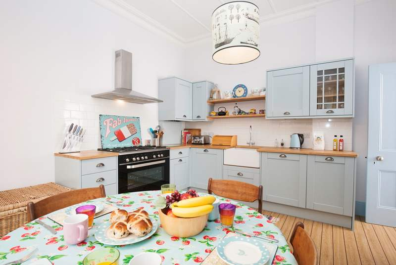 The delightful kitchen is well equipped with everything you will need to cook your favourite meals.
