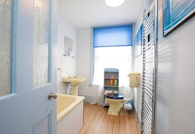 Whether you fancy a hot, relaxing bubble bath or a quick morning shower, both are provided in the family bathroom.