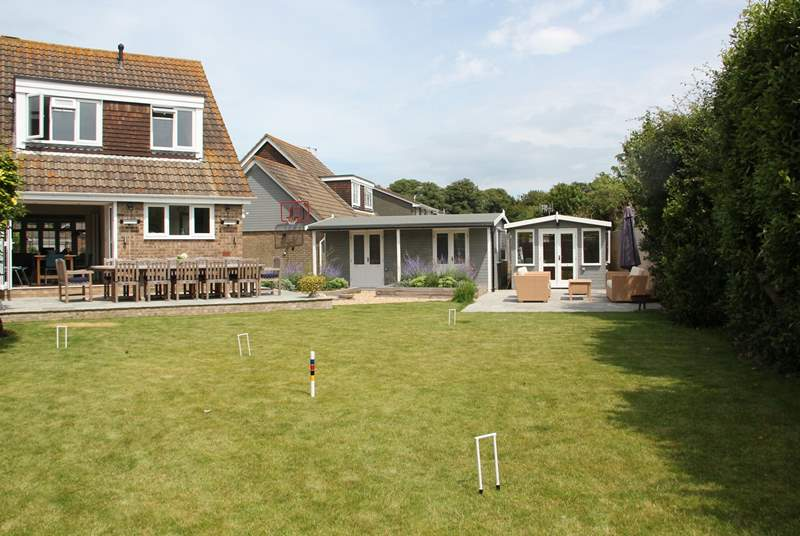 There is a great lawn area to play croquet for the relaxing days