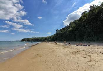 Head to Priory Bay in Seaview, a lovely sandy stretch of beach.