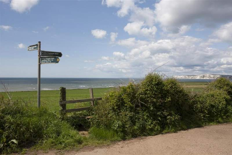 Coastal footpath where you can walk into Freshwater or even as far as Alum Bay for the keener hikers