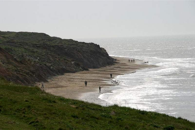Compton Bay has something for all ages, you can hunt for fossils from the dinosaur era, or catch a wave on a surfboard