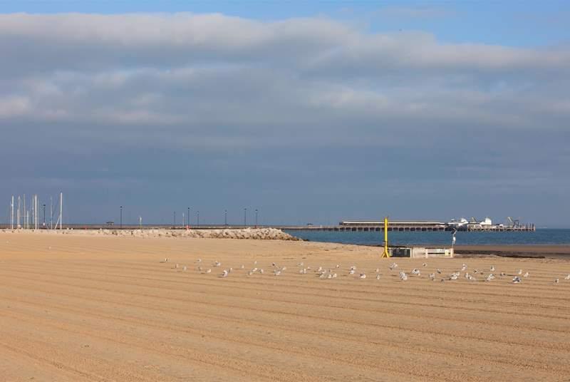 The lovely Ryde beach.