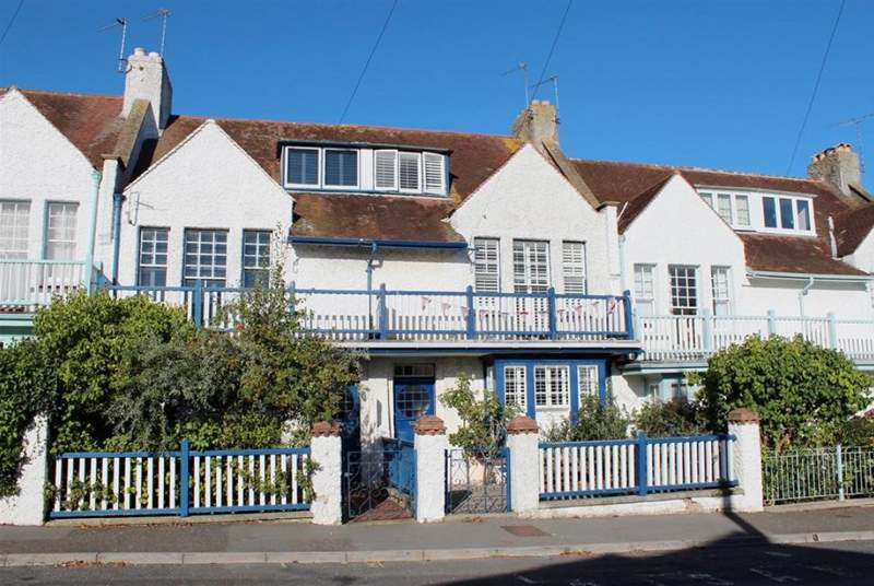 6 Seafield Terrace is in a row of period Victorian-style beach cottages.