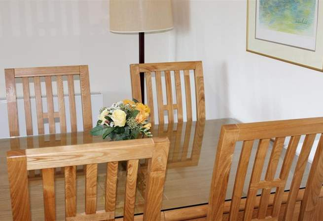 The dining-area is both modern and comfortable.