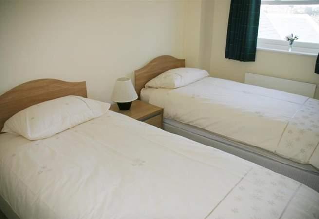 The twin bedroom.