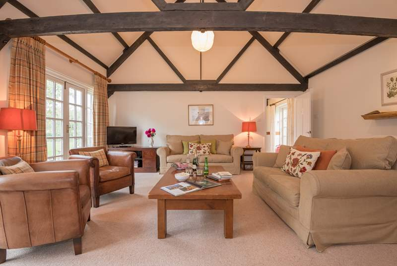 The lovely beams give this property lots of character.