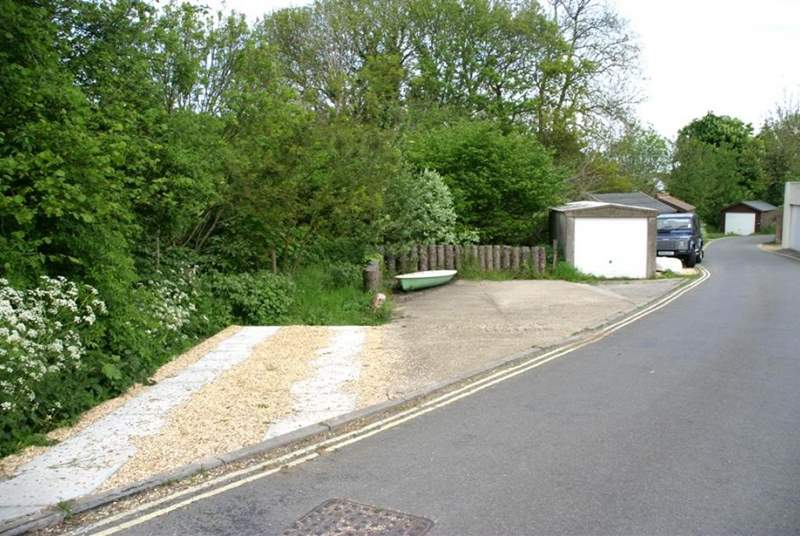 Your second parking space is at the end of Gully Road and is the one on the left of this image.