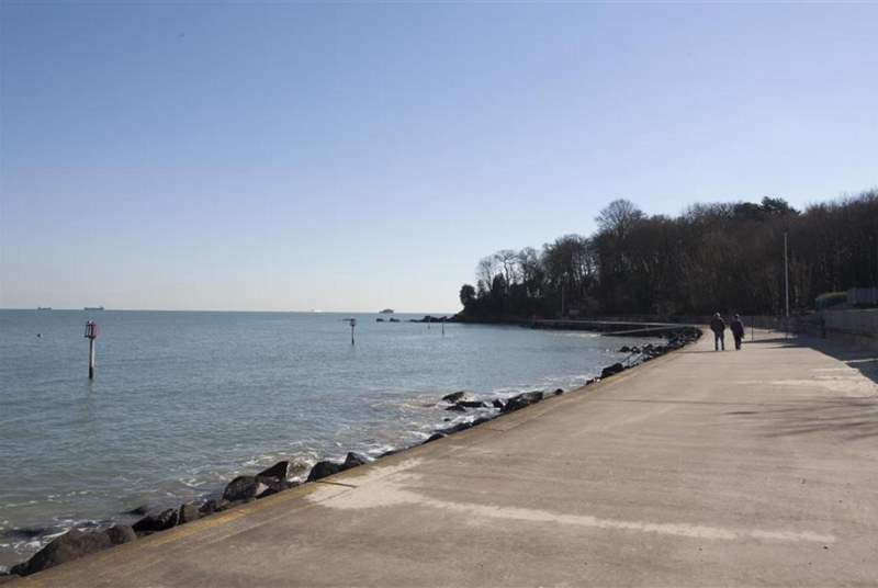 Seagrove Bay and its seawall walk.