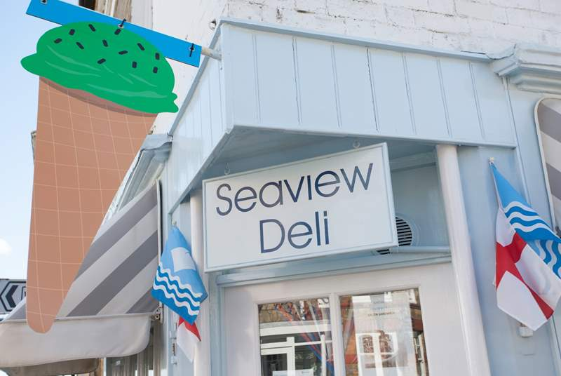 Take a walk into the village and visit the Seaview Deli for your scrummy lunch sandwich.