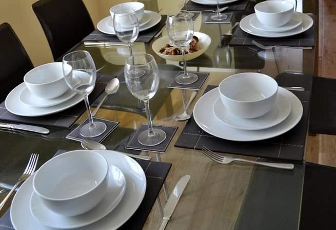 The elegant dining-area.