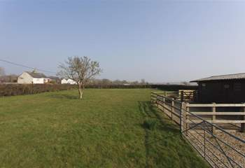Take advantage of the morning and evening views across the field behind the property.