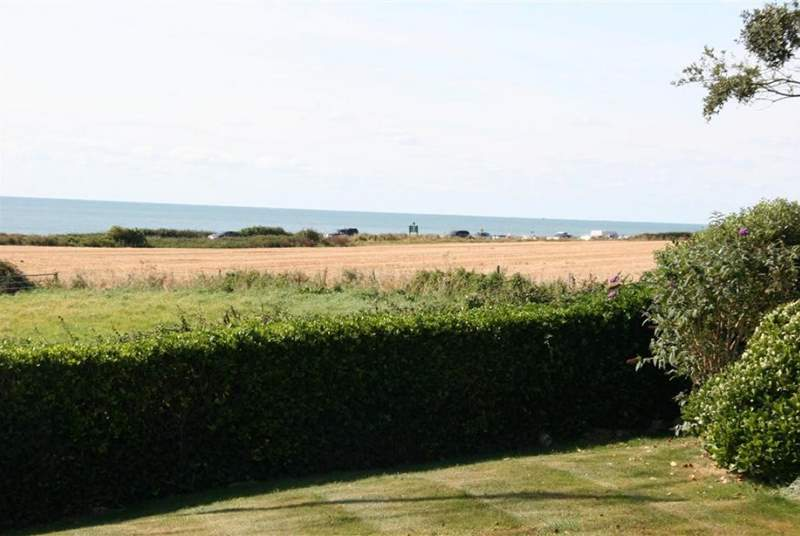 There are views of the sea from the front garden.