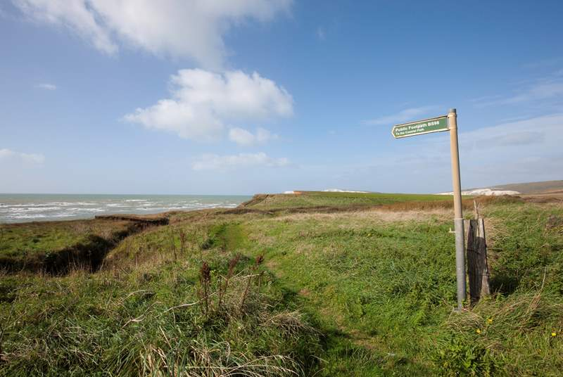 Brook has wonderful walks across the cliff tops with breath-taking views.
