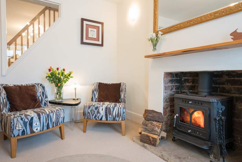 Fir Cottage is perfect all year round with a wood-burner stove.