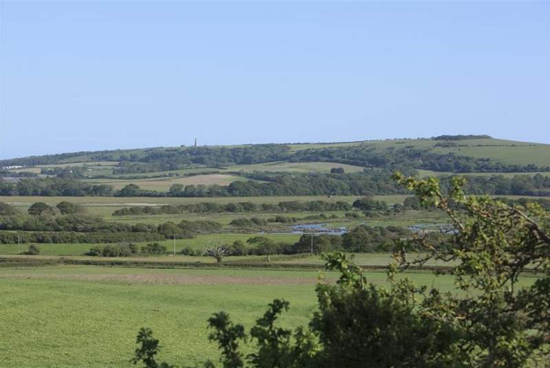 The property is surrounded by rural views.