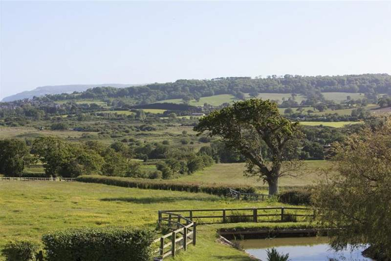 Views of the panoramic rural surroundings