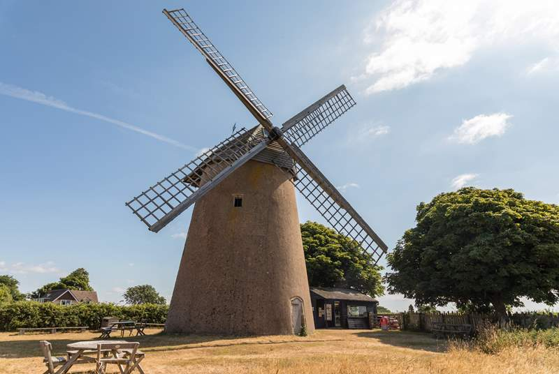 Nearby Bembridge Windmill.