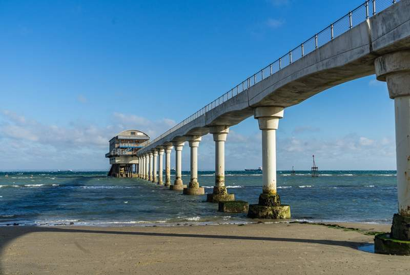 Along with a stunning beach, admire Bembridge Lifeboat Station.