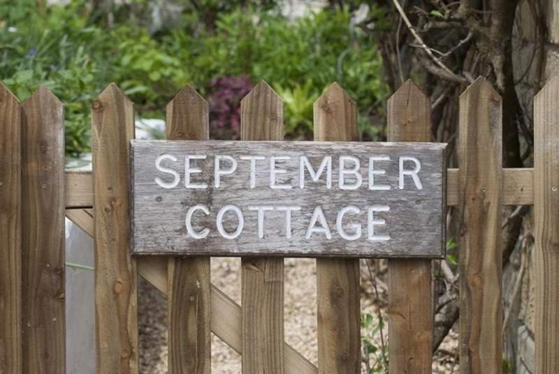 Welcome to September Cottage.