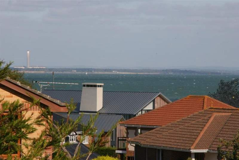 Enjoy the view across The Solent from the house and garden.