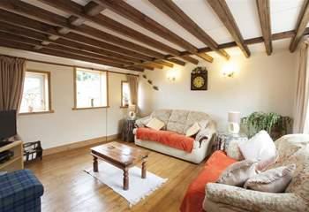 Open plan living room.