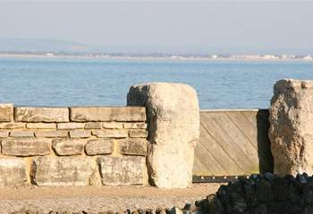 The sea wall opens allowing you access to a lovely stretch of beach.