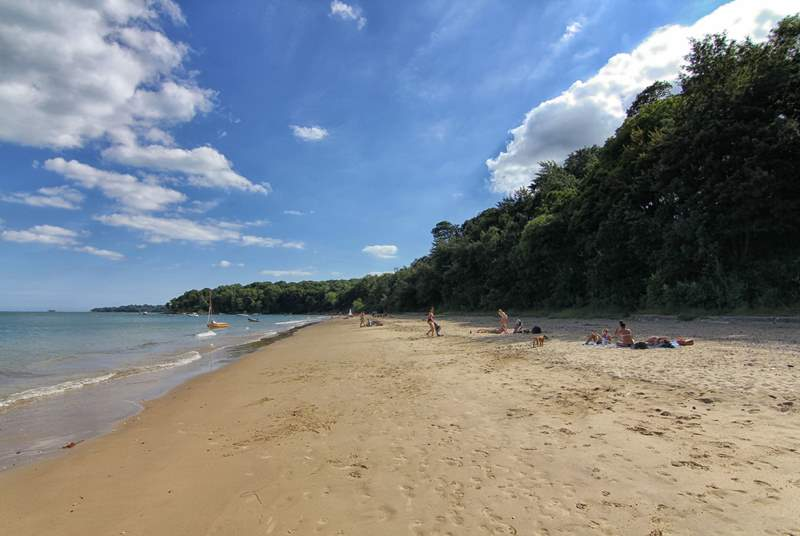 Spend the day in the sun on Priory Bay.