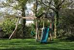 The new childrens play area in the large garden