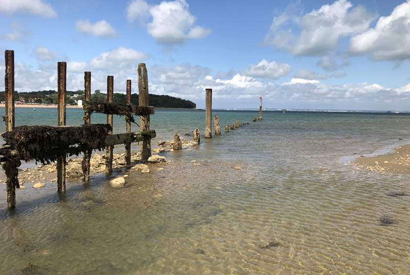 Bembridge beach is a lovely spot for a swim.