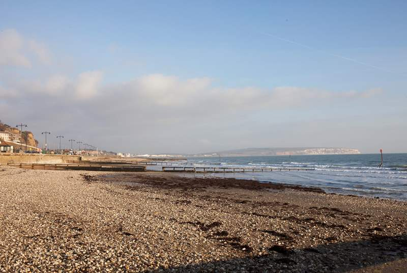 The seafront towards the nearby seaside town of Sandown.