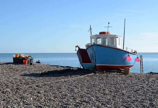 The nearby beach at Beer, the fish shop on the beach sells the catch of the day, ideal for the barbecue.