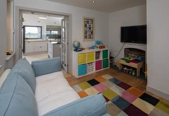 Fun time begins, this wonderful playroom/snug has enough toys to keep children amused all holiday, you may have to drag them away.