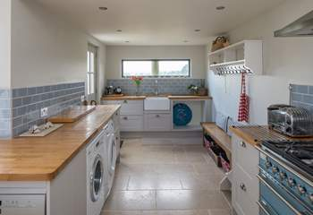 The utility-area of the open plan kitchen/dining-room.