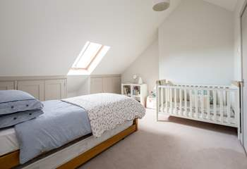 Bedroom 3 has sloping ceilings and a truckle bed with two fully sprung 3ft mattresses.